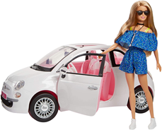 Barbie auto Fiat 500 set sa lutkom