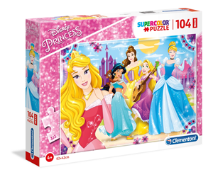 Maxi Super Color Puzzle 104 Disney Princess